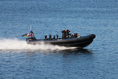MoD Police RHIB (JW16-2) (corax71) Tags: exercise joint warrior 162 jw162 jw ship shipping boat vessel marine maritime transport transportation warship war armed force forces military naval nato cloch point gourock inverclyde scotland great britain united kingdom gb uk ministry defence police mod rigid hulled inflatable launch rhib rib