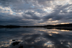 Cloudy sunrise and reflections on the bay (Merrillie) Tags: daybreak woywoy sunrise nature australia reflections nswcentralcoast newsouthwales clouds nsw centralcoastnsw water mountains landscape outdoors waterscape blackwall centralcoast dawn mountain