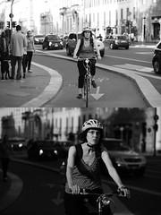 [La Mia Citt][Pedala] (Urca) Tags: milano italia 2016 bicicletta pedalare ciclista ritrattostradale portrait dittico nikondigitale mir bike bicycle biancoenero blackandwhite bn bw 89583
