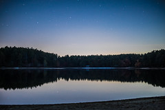Across The Lake (Evan's Life Through The Lens) Tags: camera sony a7s lens glass 50mm f18 long exposure digital beautiful vibrant color blue purple orange light dark night stars state forest plymouth amazing adventure explore friends femur recovery 2016