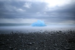 Grey day at Jokulsarlon (colin.sheader) Tags: leefilter ice bigstopper longshutter blackbeach jokulsarlon