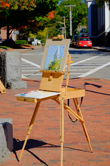 On the Square (keyphan06) Tags: concord art easel streetscenes