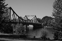 Glienicke Bridge, Potsdam (B&W) (Mount Fuji Man) Tags: glienickerbridge brucke potsdam germany deutschland glienickebridge glienickerbrucke