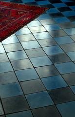 Arcachon, Hors Saison - Off Season (blafond) Tags: arcachon hotel villedhiver aquitaine bluetiles carrelagebleu carrelage tiles