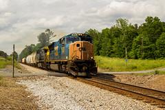 CSX Q541 on the K&A (travisnewman100) Tags: csx freight manifest train railroad q541 waycross georgia ka subdivision atlanta division cincinnati ohio emd sd70mac ac44cw ge rural crossing ooc