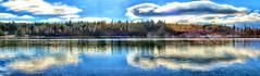 Herbert Lake, Banff National Park, Alberta, Canada - ICE(5)1105-07 (photos by Bob V) Tags: mountains rockies rockymountains canadianrockies banff banffpark banffnationalpark banffalberta banffalbertacanada panorama mountainpanorama herbertlake mountainlake reflection reflectiononwater