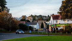 Horspath village centre (allybeag) Tags: horspath shotoverwoods autumn villageshop londis churchtower villagegreen
