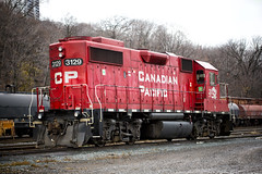 Canadian Pacific Railway (Metro Tiff) Tags: cp3129 canadianpacificrailway cp cpr gp382 locomotive railroad vehicle outdoor freighttrain train railway track engine diesel electric 51986 a4680 transportation engineer conductor operator