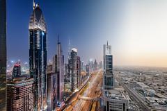 Day n' Night in Dubai (stefanschaefer90) Tags: dubai city cityscape downtown burj khalifa emirates vae uae sheikh zayed road rooftop day night transition
