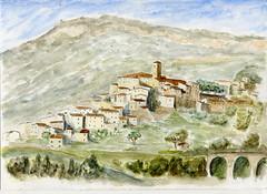 Bar sur loup 3 couleurs (ybipbip) Tags: paint painting peinture pintura landscape paysage watercolor watercolour acuarela aquarell akvarell acquerello