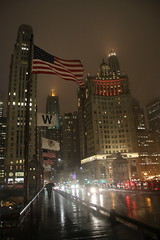 Chicago in the rain at Night (Ray Cunningham) Tags: chicago illinois night rain mist downtown