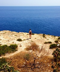 Far away. (In Julie's lens) Tags: lost malta wanderlust travel traveling europe immensit lanscape small explore discover ef summer