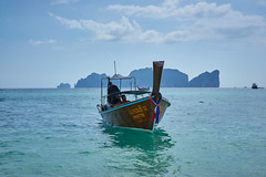 LIKE A BOSS (8mr) Tags: thai thailand phuket andaman sea water asia asian boat boating boats fishing imonaboat color longboat longtail motor floating float island islands limestone karsts krabi exotic south east ocean sky skies beach tourists tour tourist travel phase one phiphi ley phi