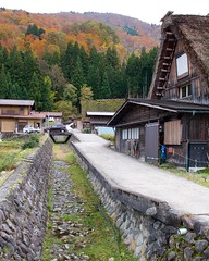 Canal (Frank Fujimoto) Tags: ogimachi japan water