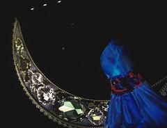 a dress on the moon (omnia_mutantur) Tags: dress vestito abito robe vestido luna moon lune mezzaluna armani armanisilos milano milan italia italy italie blue blu azul croissante creciente crescente crescent museo muse museum