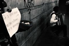 He is creative- we just want to get drunk (Master Iksi) Tags: people street streetphotography outdoor blackandwhite canon 700d beograd belgrade interesting artist performance performer streetperformance srbija serbia