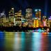 City skyline by night, Sydney, Australia