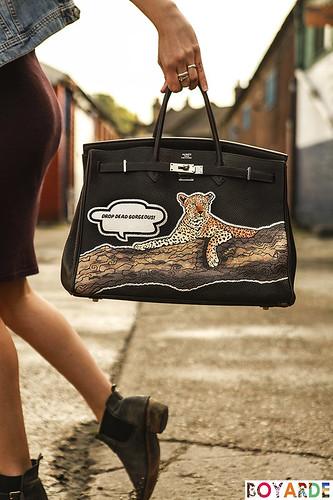 Laura-Bailey-leopard-birkin-logo