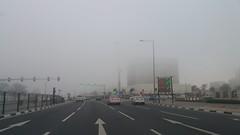 Fog in Doha @ Afternoon todya 26.12.2016 ضباب في الدوحة اليوم عصراً (Feras.Qadoura) Tags: doha city state qatar fog haze ضباب مدينة الدوحة دولة قطر