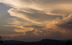 over Bald Knob (dustaway) Tags: sunsetclouds thunderstorm distance sky cloudscape clarencevalley woodenbong cumulonimbusincus baldknob northernrivers nsw australia australianmountains landscape
