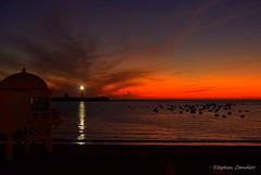 Sunset At La Caleta (Light+Shade [spcandler.zenfolio.com]) Tags: stephencandlerphotography spcandler stephencandlerphotography httpspcandlerzenfoliocom stephencandler spain espana andalusia andalucia lightshade europe cadiz lacaleta sunset sea boats lighthouse lights