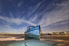 Stars over Meols (davenewby123) Tags: fishingboat stars nightskies meols primo boat beach wirral merseyside irishsea longexposure movement clouds dusk seascape canon heliopan canon6d sigma24105 vehicle outdoor water sea waterfront sunset serene landscape shore seaside sky fishingboats fishing davenewby
