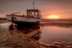 Meols Beach Sunset (5 of 14) (andyyoung37) Tags: boat meolsbeech merseyestuary beach greatsky sunset thewirral