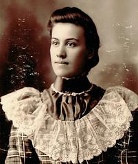 Virginia Girl (~ Lone Wadi Archives ~) Tags: winchestervirginia cabinetcard portrait lostphoto foundphoto retro 1890s 19thcentury victorian mysterious unknown beauty
