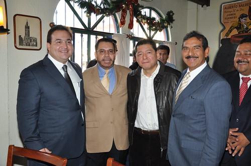 El gobernador Javier Duarte de Ochoa asistió a Comida con el director del Diario AZ.