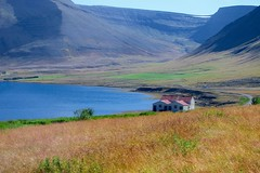 Solitude - Westfjords, Iceland (Pat L.314) Tags: iceland westfjords mountains scenery water farmhouse lonely serene outdoor landscape lake absolutelystunningscapes ngc coth