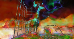 reindeer / Artist : Cica Ghost (Bamboo Barnes - Artist.Com) Tags: secondlife art exhibition winter 2016wintershowcaseartshow teamdiabetesofsecondlife surreal vivid light shadow photo painting green blue red bamboobarnes virtualart digitalart cicaghost