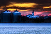 countrified economies (JanKo88) Tags: sunset silos fields golden village church