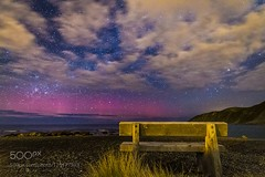 Aurora night 29/09/16 (ElginCon) Tags: ifttt 500px cloudscape cloudy view bench new zealand long exposure aurora night photography slow shutter wellington nightscape images southern lights australis 極光 南極光