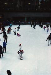 New York Rockefeller Centre Dec 1990 009 Ice Skating (photographer695) Tags: new york ice centre skating dec rockefeller 1990