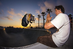 Zen and the Art of Skateboarding (JKG II) Tags: life california venice sky sun motion beach beauty kids concrete high amazing cool sand poetry paradise skateboarding action path awesome wheels line carve zen skate thrash decks lostangeles grind stunts seanjohnson jesusesteban