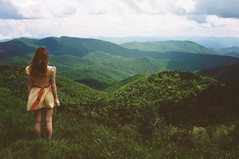 (yyellowbird) Tags: selfportrait mountains girl landscape northcarolina cari blueridgeparkway