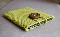 Crochet iPad Case in Chartreuse (natalya1905) Tags: sock crochet chartreuse case cover accessories sleeve ipad