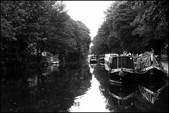 Canal (emmajanefalconer) Tags: london water monochrome canal eastlondon