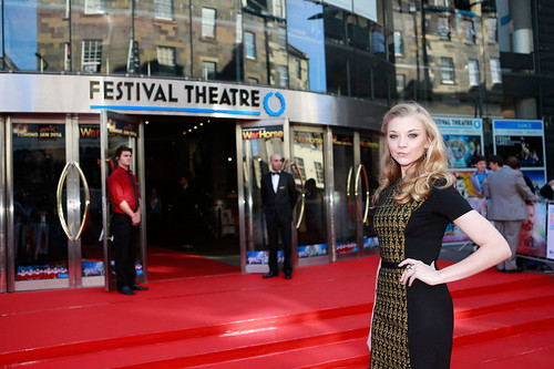 Natalie Dormer arriving at the European premiere of Breathe In at Festival Theatre