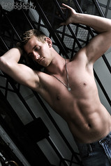 Mikey 068 (Violentz) Tags: shirtless portrait man male guy model body mikey torso physique thedungeon