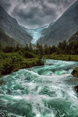 briksdalsbreen  [62° north] (paolo paccagnella) Tags: panorama cloud snow cold green water rain norway speed river grey photo paolo north glacier scandinavia paesaggio norvegia dinamic briksdal canonequipment canonefs1755mmf28isusmlens canoneos7d phpph phpphotography