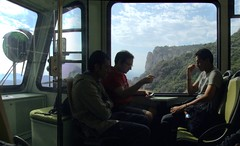 (Victoria HAF) Tags: mountain station sunrise railway montserrat