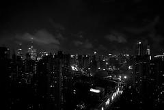 Shanghai-BW (aujschue) Tags: china city blackandwhite bw white black night nikon shanghai d200 pudong hongkou megacity