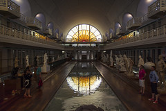 La Piscine (Gilderic Photography) Tags: travel light vacation people sculpture france reflection art water pool statue museum architecture swimming canon eos raw lumière culture symmetry musee reflet vitrail lille piscine bassin roubaix symetrie 500d gilderic