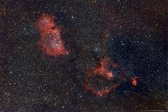 IC 1805 and IC 1848, the Heart and Soul Nebulae (TheAstroShake) Tags: Astrometrydotnet:status=solved Astrometrydotnet:id=supernova8713