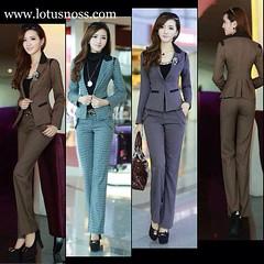 ชุดเกาหลีแฟชั่นสูทพร้อมกางเกงทำงานผู้หญิงแฟชั่นเกาหลี มี3สี ไซส์M-XL พรีออเดอร์ SJ2020 ราคา2700฿ โทรสั่ง 083-1797221 www.lotusnoss.com,  Line ID:lotusnoss, WeChat:lotusnoss #ยูนิฟอร์ม #women #suit #fashion #ชุดทำงาน #เสื้อผ้าแฟชั่นเกาหลี #เสื้อสูท #ผู้หญิ