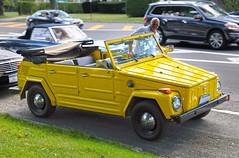 Volkswagen Thing, happy owner (vetaturfumare - thanks for 3 MILLION views!!!) Tags: smile yellow vw volkswagen hamptons thing safari type hdr 181 trekker easthampton kübelwagen beachcar typ181 kurierwagen
