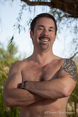 IMG_6743 (DesertHeatImages) Tags: arizona hairy jock phoenix pits leather fence goatee cub desert boots hardon