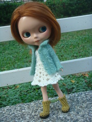 Blythe cable knitted cardigan
