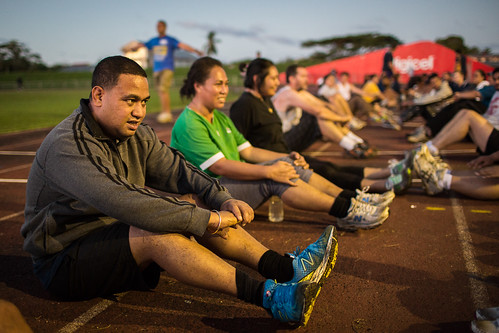The early morning fitness program draws by DFAT photo library, on Flickr